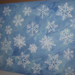 Falling Snowflake Decor