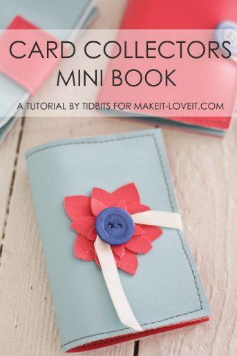 Card Collectors Mini Book Tutorial