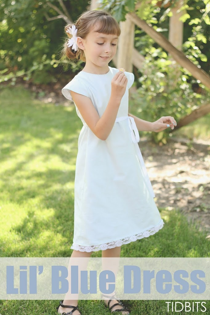 Lil' Blue Dress | Sewing for Girls