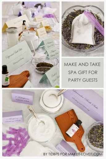 Bath Salt Soak in a Tea Bag | Party Favor for Guests