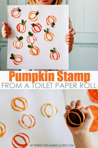 Pumpkin Stamp – From a Toilet Paper Roll (For Make it and Love it)