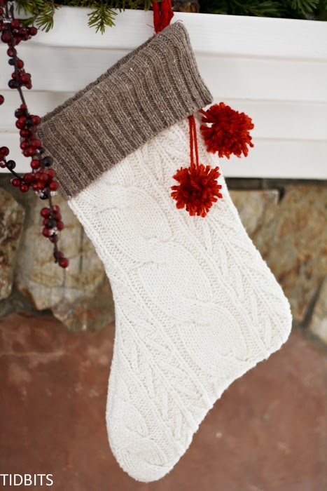 How to Make a Stocking from an Old Sweater - Tidbits
