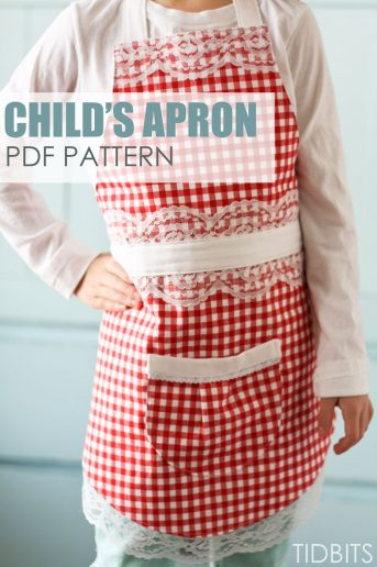 child's apron pattern, tidbits