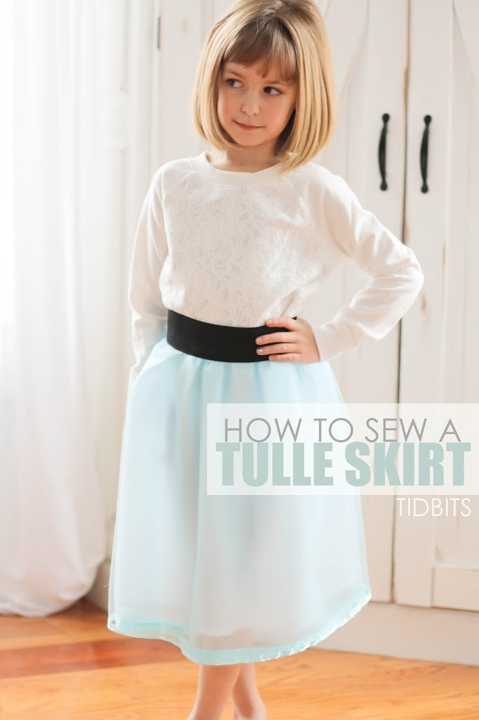 afea414906 Tulle Skirt with a Wide Elastic Waistband (Version #2) - Tidbits