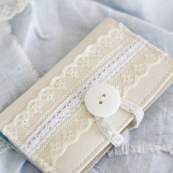 Business Card Holder – Made From Leather and Lace
