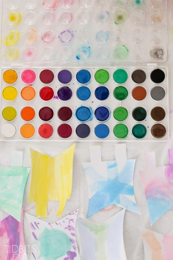 Watercolor Pennant Banner – {Kids Craft}