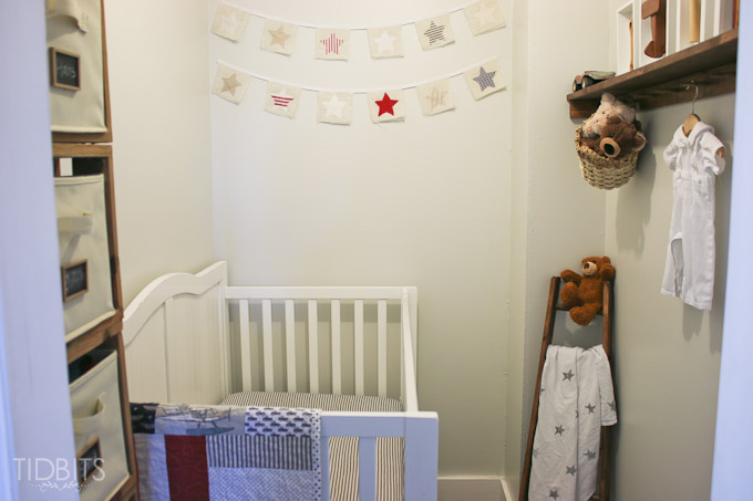 closet space into a nursery