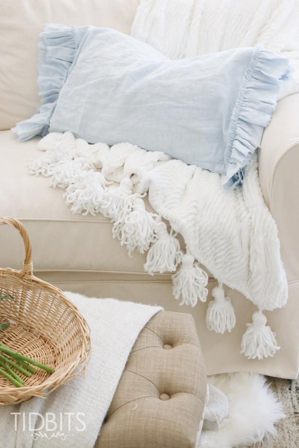 Ruffled and frayed pillowcase