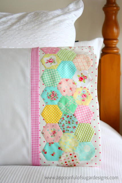 colorful quilted pillowcase