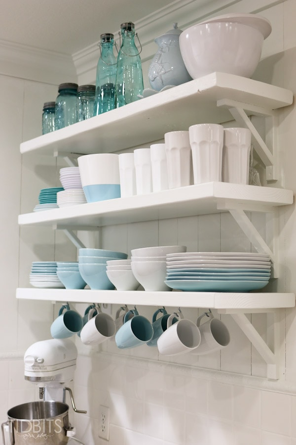 Kitchen open shelving