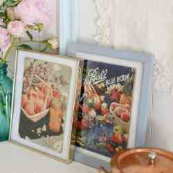 Time Worn Vintage Canning Books   Free Printables and a Vignette
