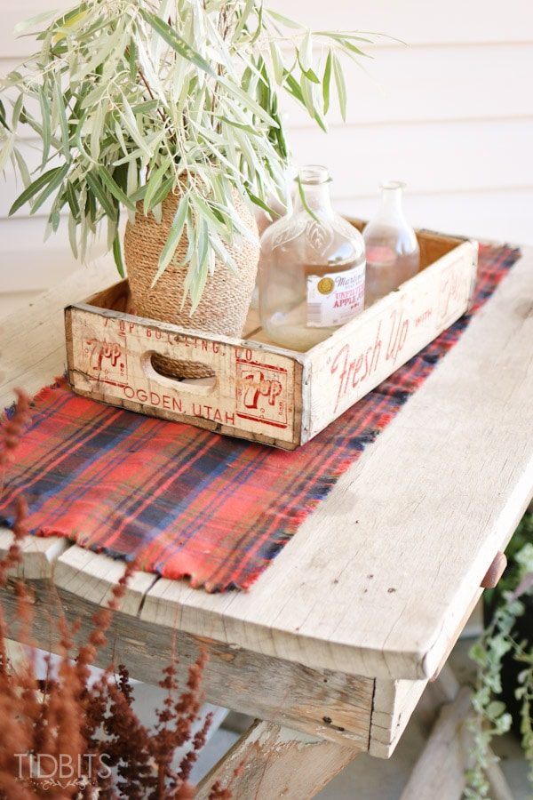 Fall Flannel Table Runner
