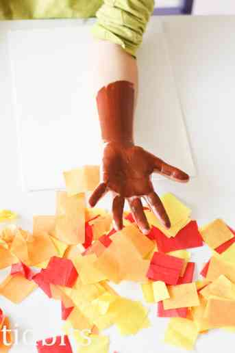 Tissue Paper Tree Art | Fall Craft for Kids