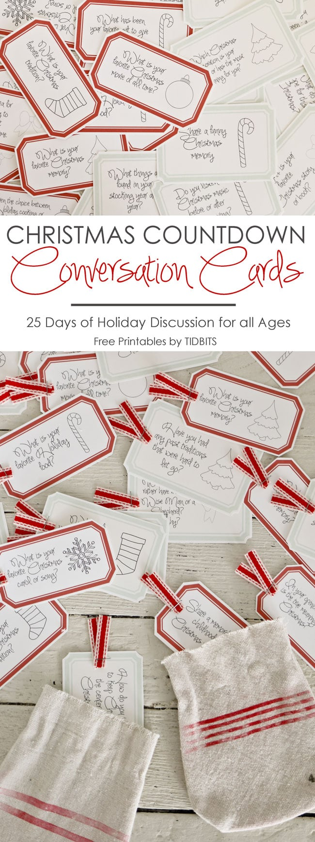 image about Printable Conversation Cards identify Xmas Countdown Communication Playing cards Absolutely free Printable