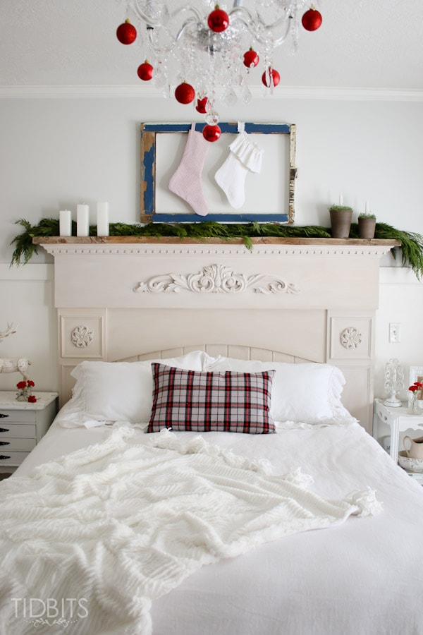 Cottage Christmas Master Bedroom-27