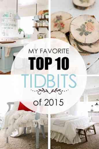 Favorite Top 10 TIDBITS of 2015!