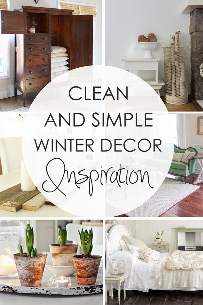 Clean and Simple Winter Decor Inspiration