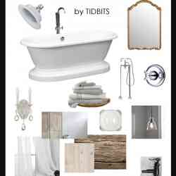 Bathroom Design Board french cottage bathroom design board - tidbits