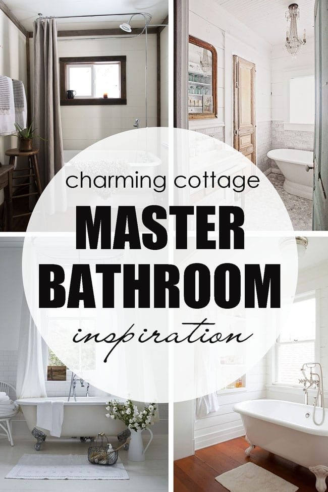 Master Bathroom inspiration images, for a charming cottage style.