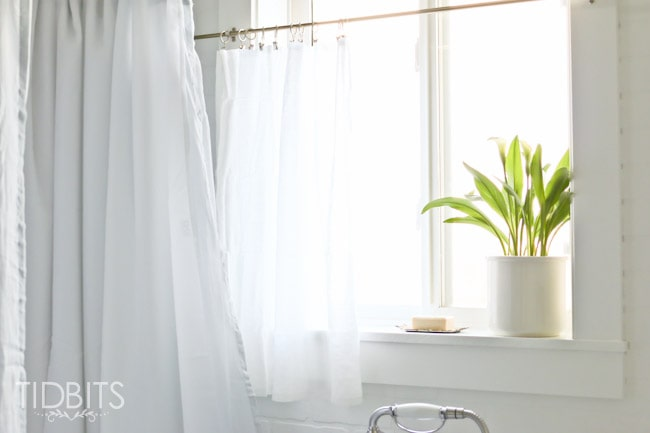 How To Make A Bought Window Curtain Work As Shower