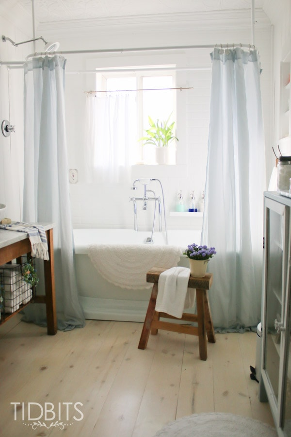 How To Make A Store Bought Window Curtain Work As Shower