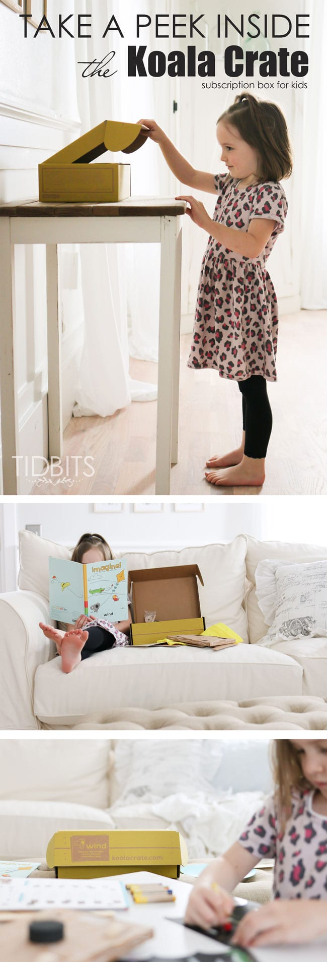A Peek inside the Koala Crate. A fun and interactive subscription box for preschoolers.