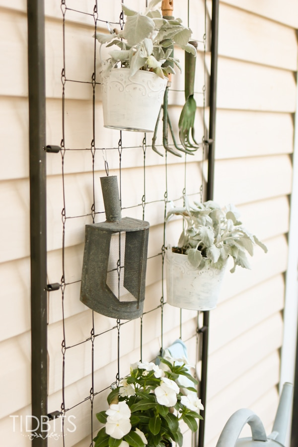 Display old garden tools to add character to home.