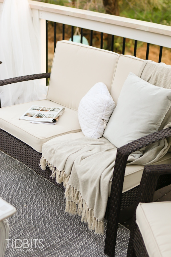 Joss and Main outdoor furniture for deck makeover.