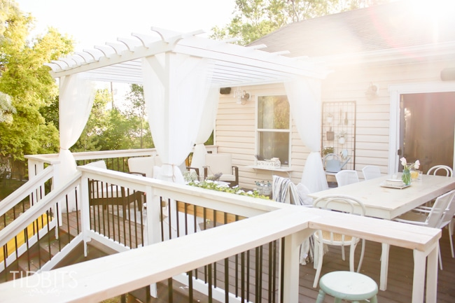 Deck makeover before and after.