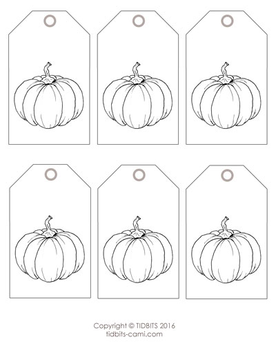 Pumpkin Tag Printable