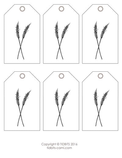 Wheat Tag Printable