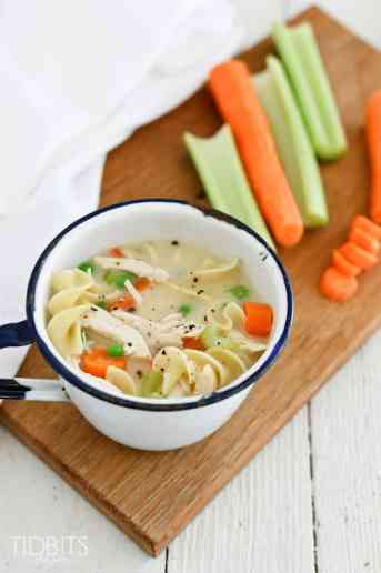 Pressure Cooker Creamy Chicken Noodle Soup