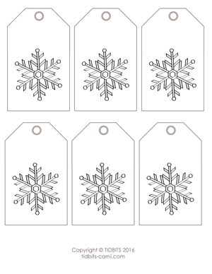 graphic relating to Printable Christmas Tags Black and White called Printable Xmas Present Tags - Tidbits