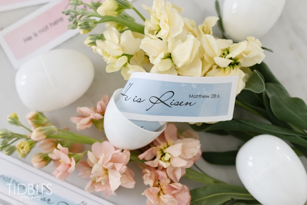 He is Risen Free Printable - symbolic egg filler for Easter.