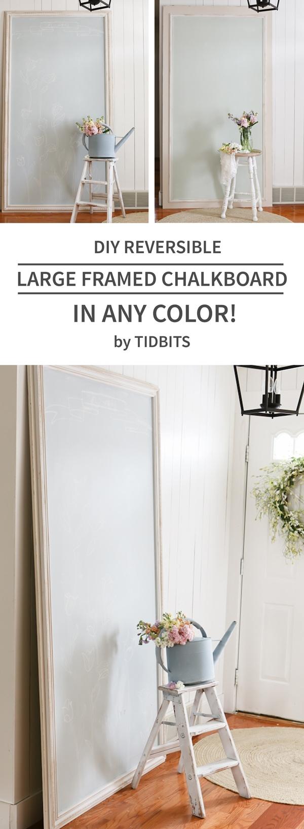DIY Large Framed Chalkboard - IN ANY COLOR! - Tidbits