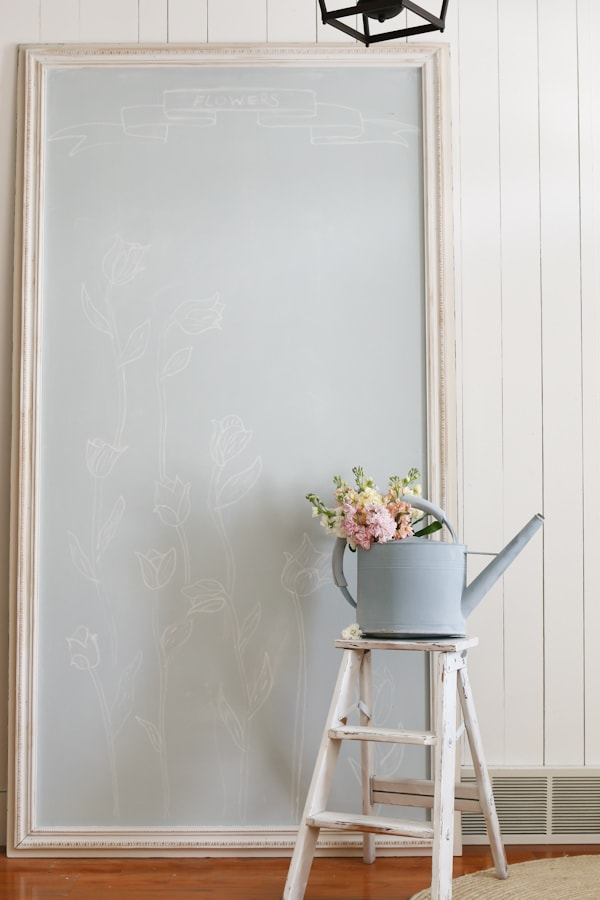 DIY large framed chalkboard + learn how to make chalkboard paint in any color!