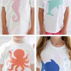 Easy No Sew Applique T-Shirts