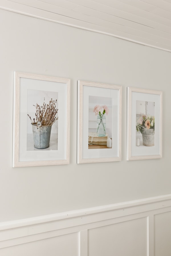 Use your own photography for wall art.