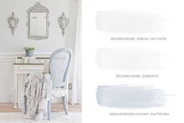 Light and Bright Cottage Paint Colors - Tidbits