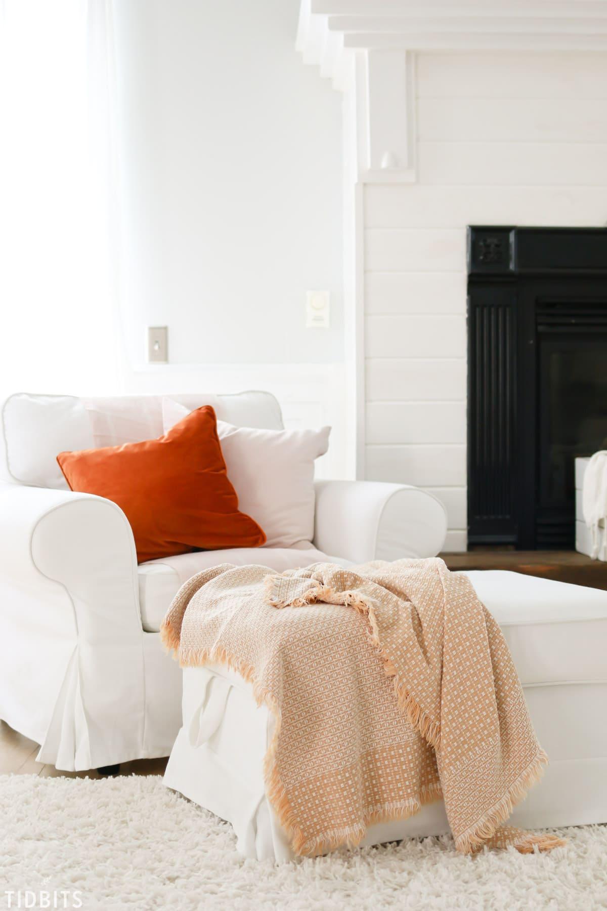 Tidbits Fall Home Tour - Living Room What Small Seasonal