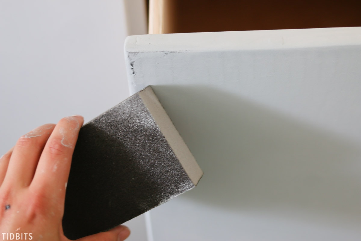 How to create a vintage painted finish on new wood.
