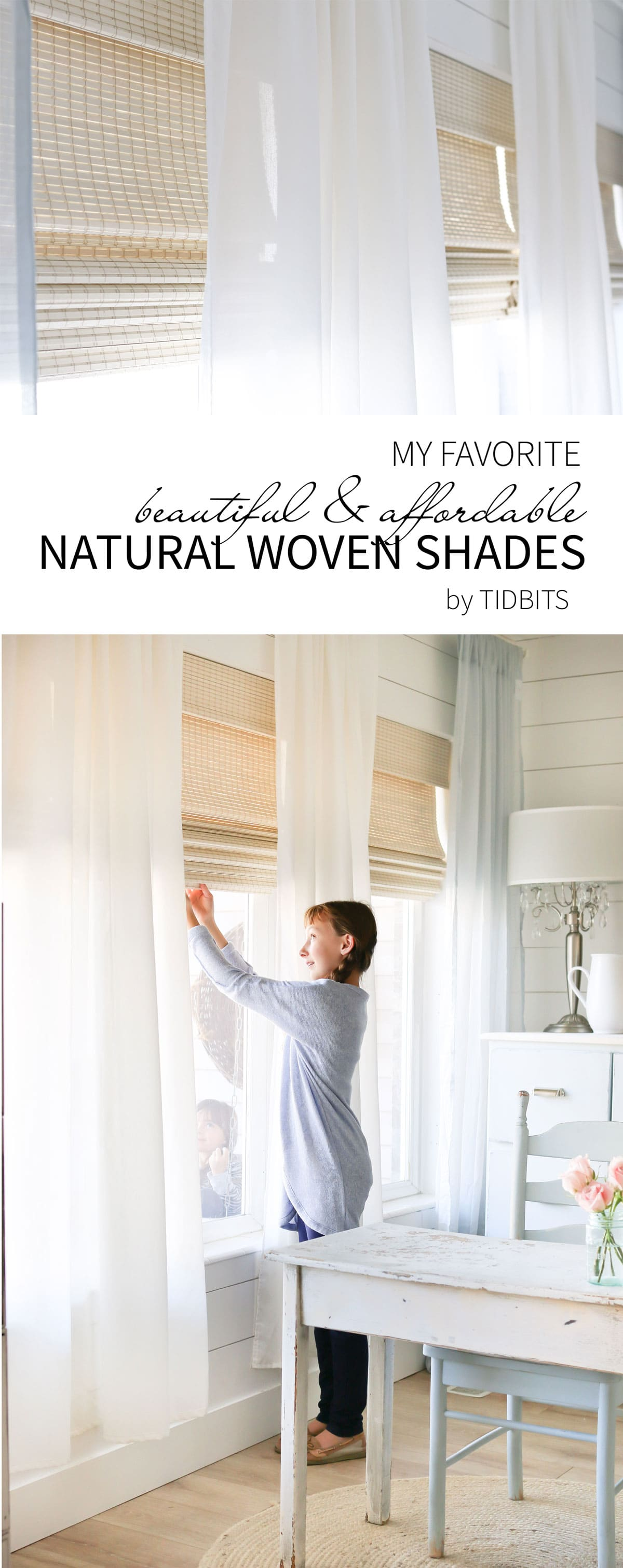 Beautiful Natural Woven Shades In Our Office Tidbits