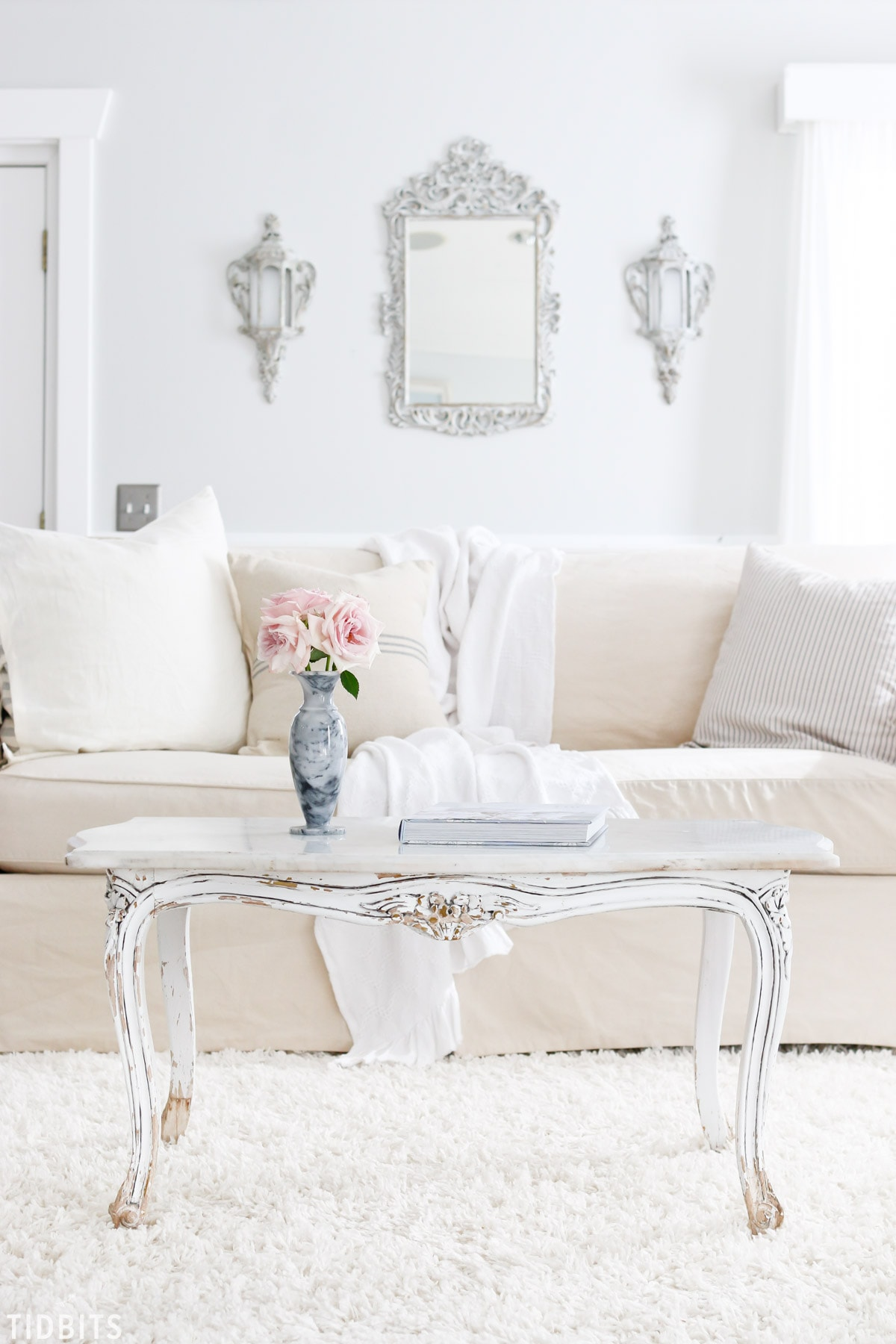 Tips And Tricks For Cleaning Slipcovers Naturally. 4 Kids + White Sofa .