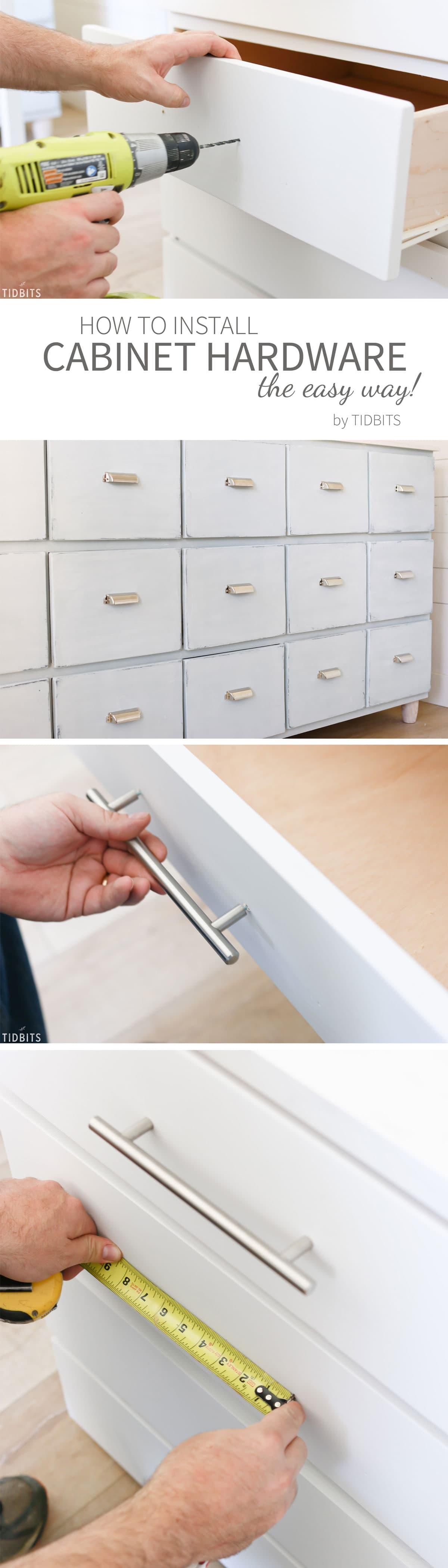 How to install cabinet hardware, the easy peasy way!