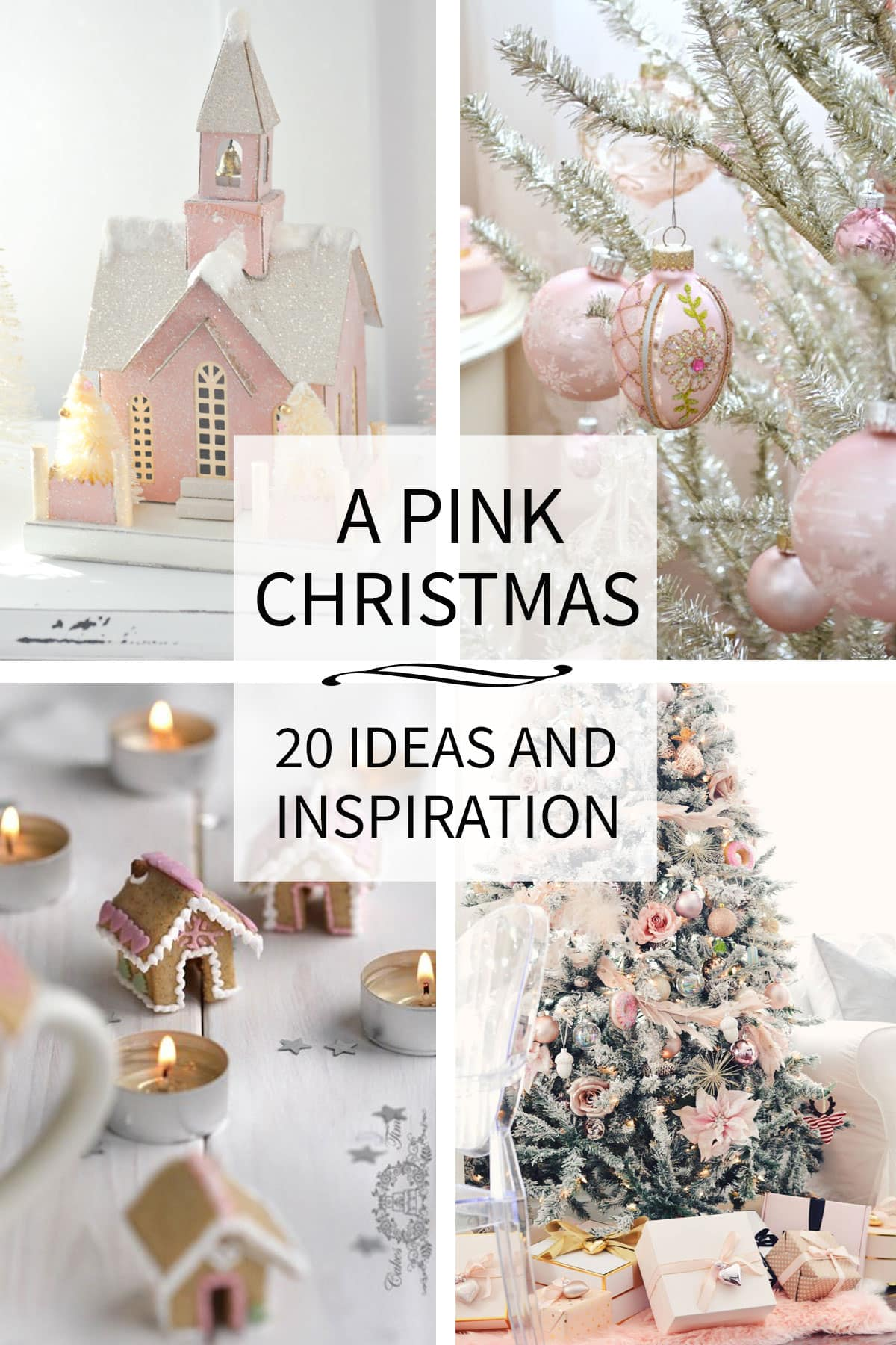 Pink Christmas Inspiration and Ideas - Tidbits