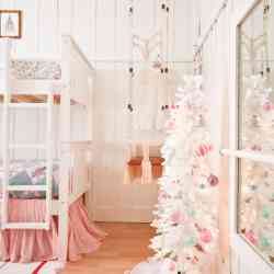 A Colorful Christmas Girls Bedroom