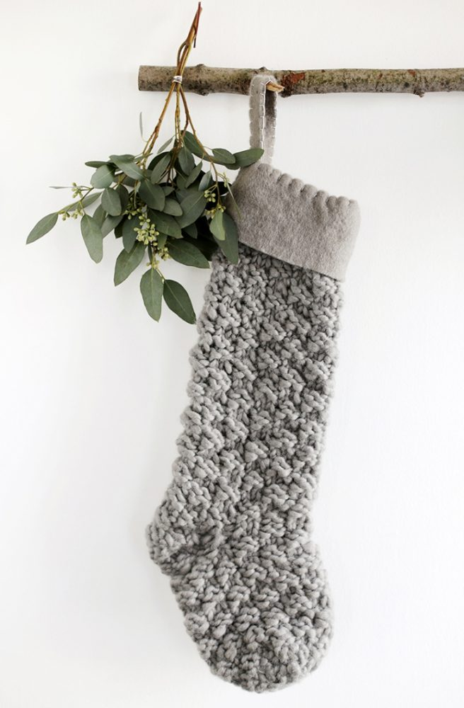 Scandinavian Stocking on branch