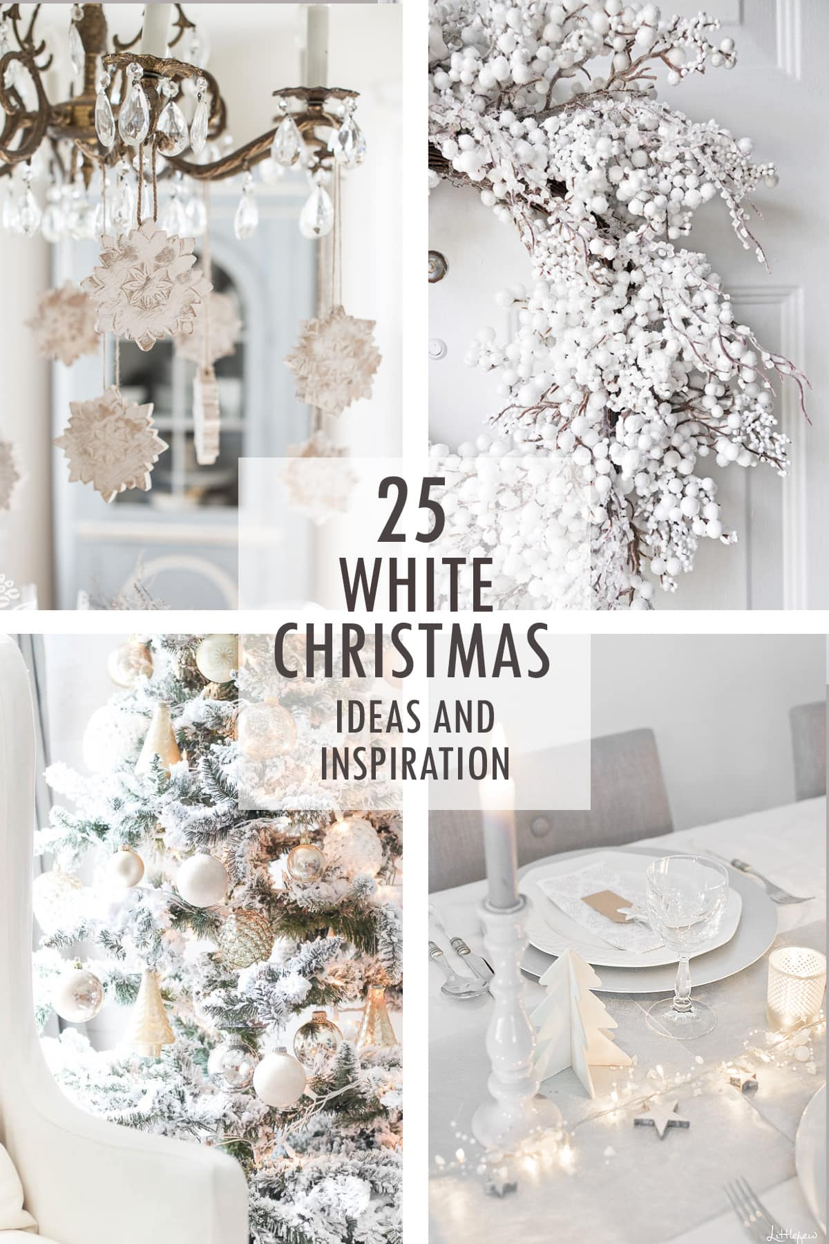 white christmas collage