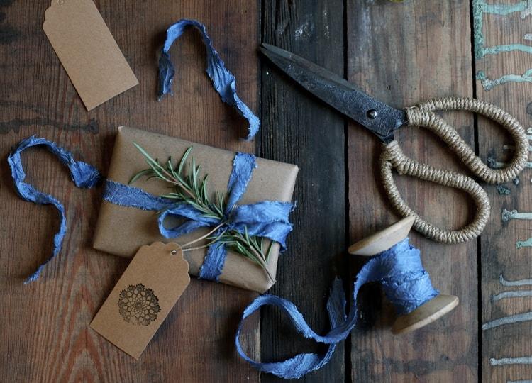 Blue Christmas wrap