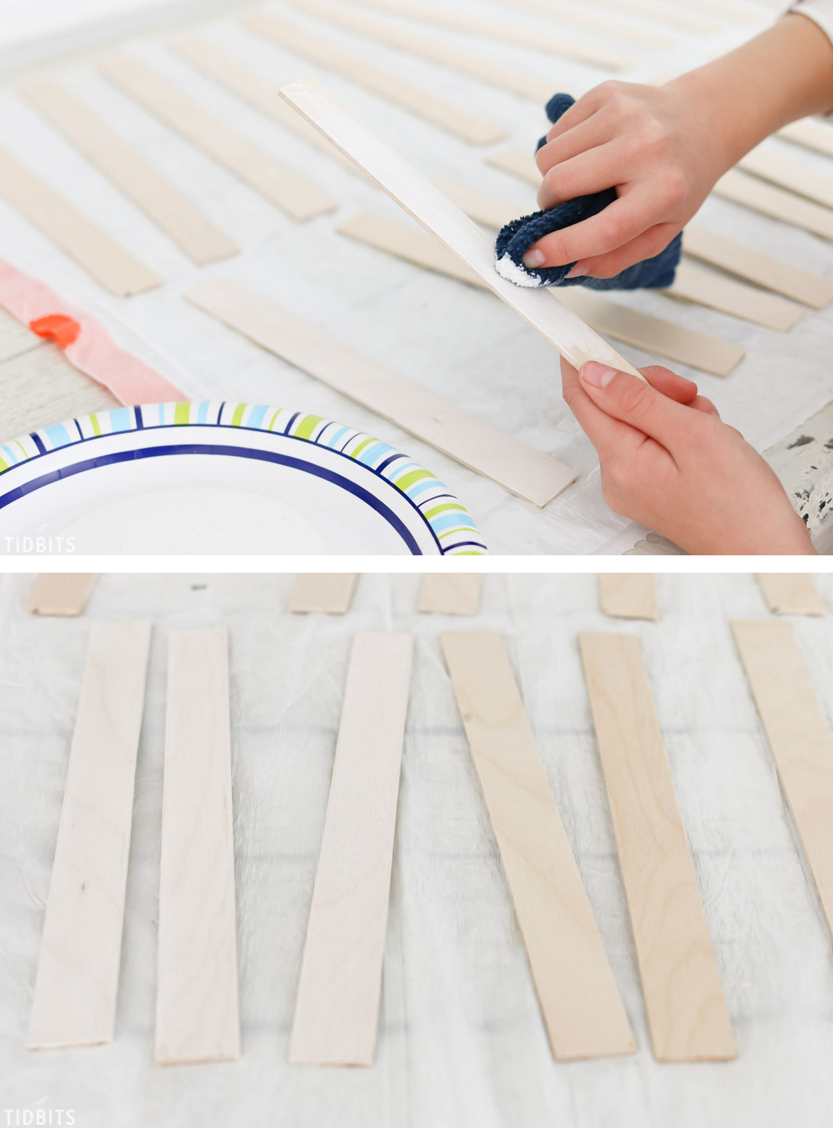 Easy DIY reversible mini chalkboard and whiteboard, by TIDBITS